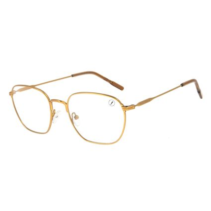 Armação Para Óculos de Grau Unissex Lollapalooza Brasil Marrom LV.MT.0478-0202