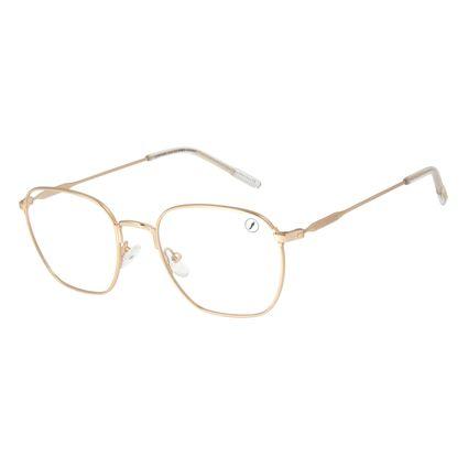 Armação Para Óculos de Grau Unissex Lollapalooza Brasil Dourado LV.MT.0478-2121