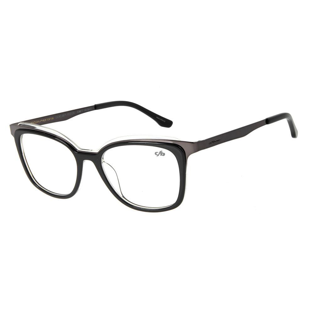 Armação Para Óculos de Grau Feminino Chilli Beans Gatinho Ônix LV.AC.0671-0122