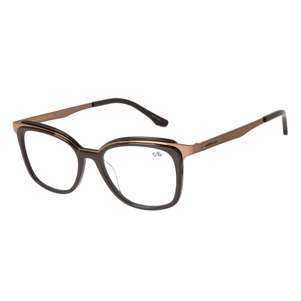 Armação Para Óculos de Grau Feminino Chilli Beans Gatinho Marrom LV.AC.0671-0202