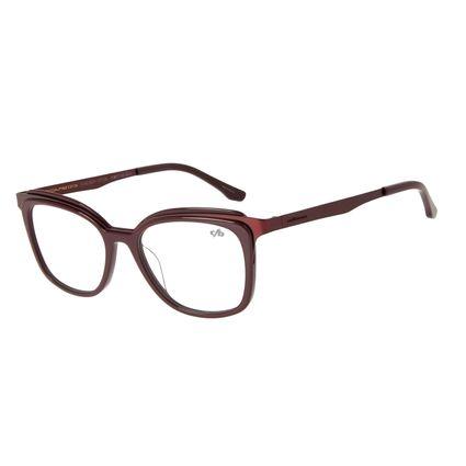 Armação Para Óculos de Grau Feminino Chilli Beans Gatinho Vinho LV.AC.0671-1717