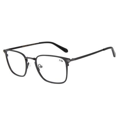 Armação Para Óculos de Grau Masculino Barber Shop Quadrado Preto LV.MT.0451-0122
