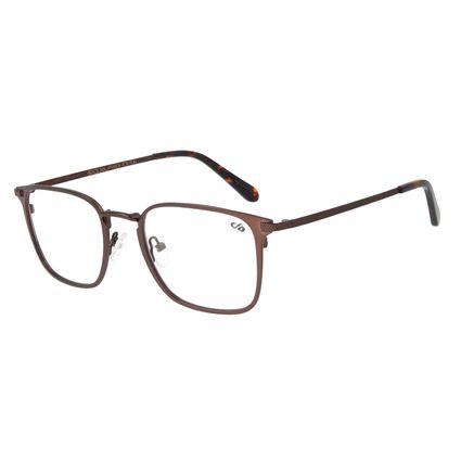 Armação Para Óculos de Grau Masculino Barber Shop Quadrado Marrom LV.MT.0451-0202