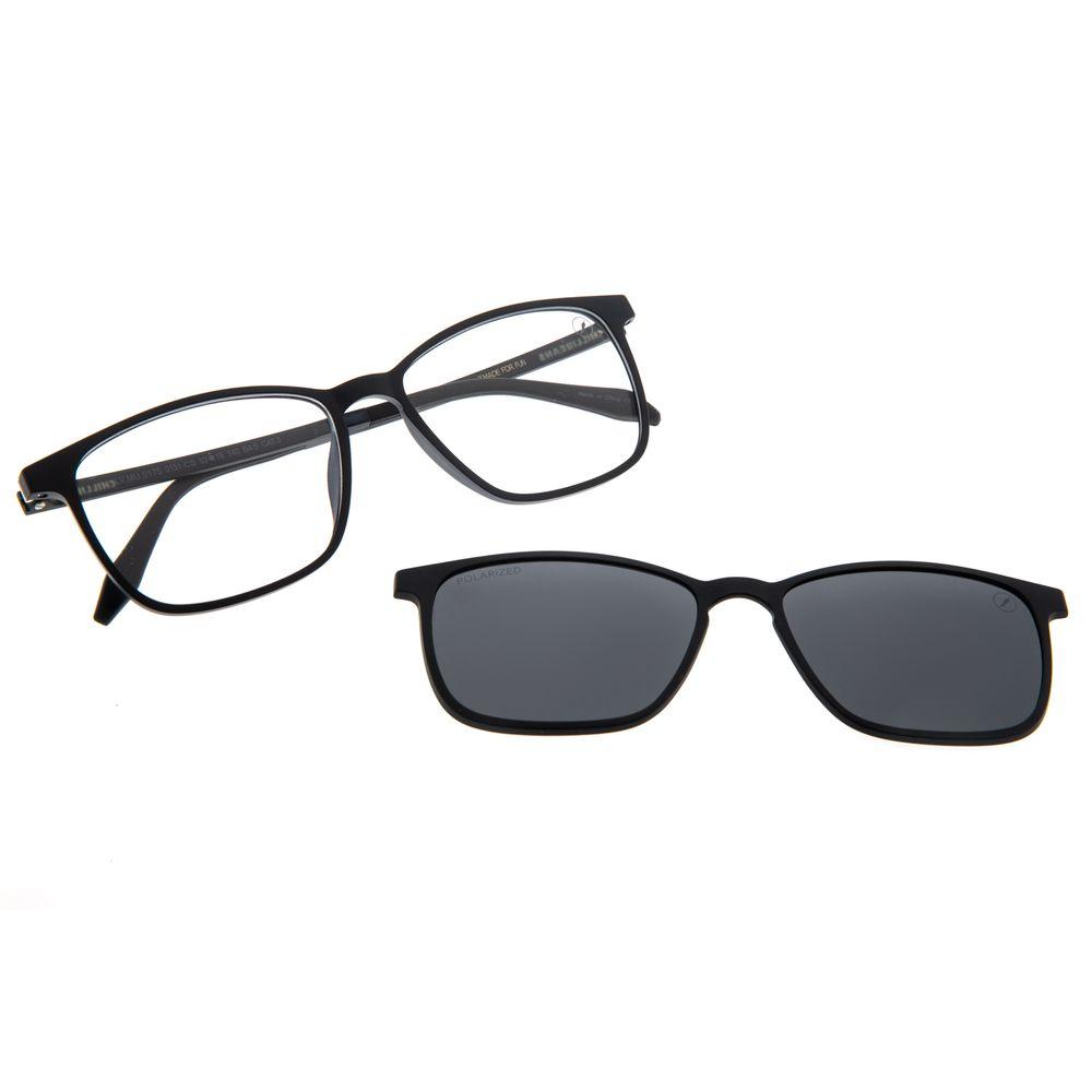 Armação Para Óculos de Grau Masculino Chilli Beans Multi Preto Polarizado LV.MU.0175-0131