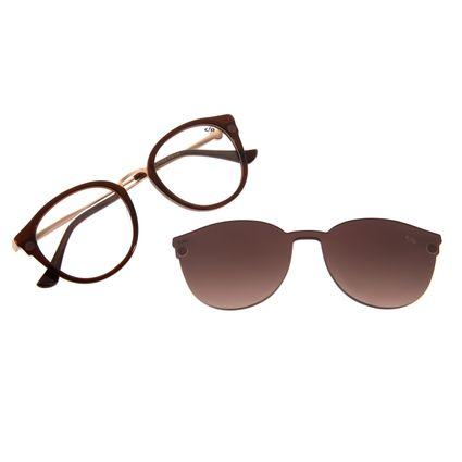 Armação Para Óculos De Grau Feminino Mãe Natureza Multi Marrom LV.MU.0401-5702