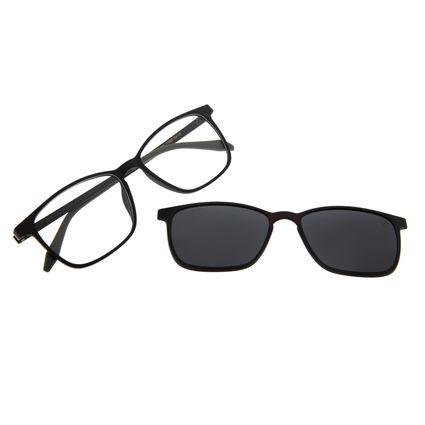 Armação Para Óculos De Grau Masculino Chilli Beans Essential Multi Cinza Polarizado LV.MU.0407-2004