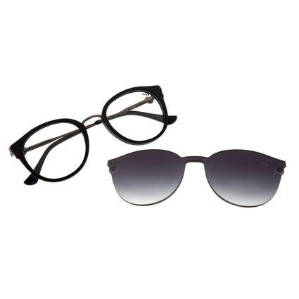 Armação Para Óculos De Grau Feminino Mãe Natureza Multi Preto LV.MU.0401-2001