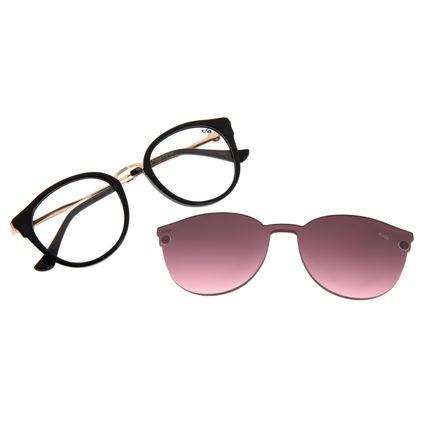 Armação Para Óculos De Grau Feminino Mãe Natureza Multi Preto Brilho LV.MU.0401-2030