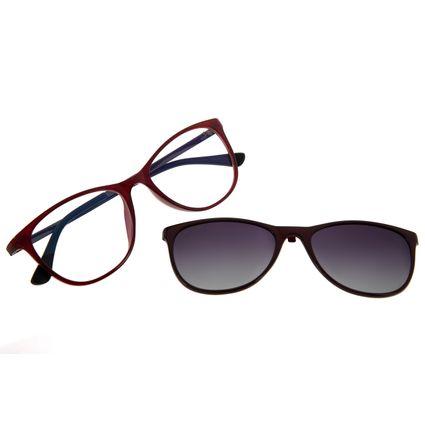 Armação Para Óculos De Grau Feminino Chilli Beans Multi Vinho Polarizado LV.MU.0448-2017