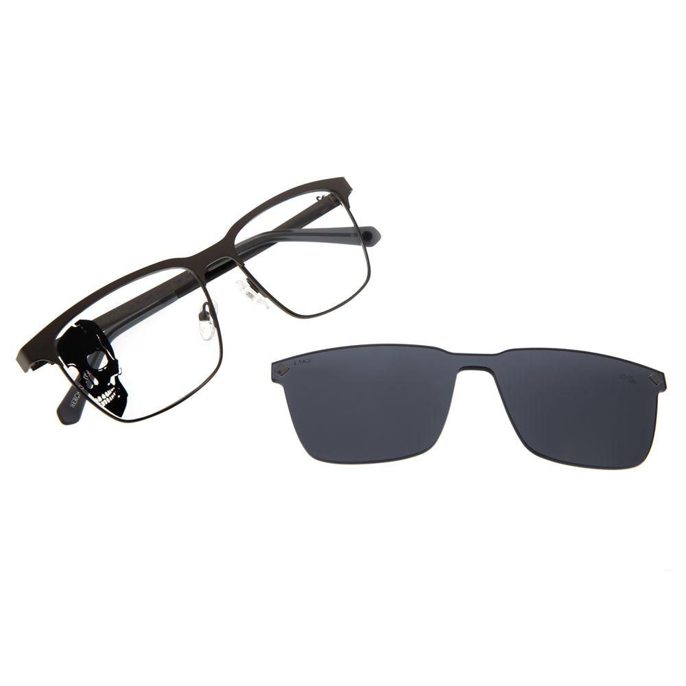 Armação Para Óculos de Grau Masculino Alexandre Herchcovitch Multi Metal Ônix LV.MU.0499-0522
