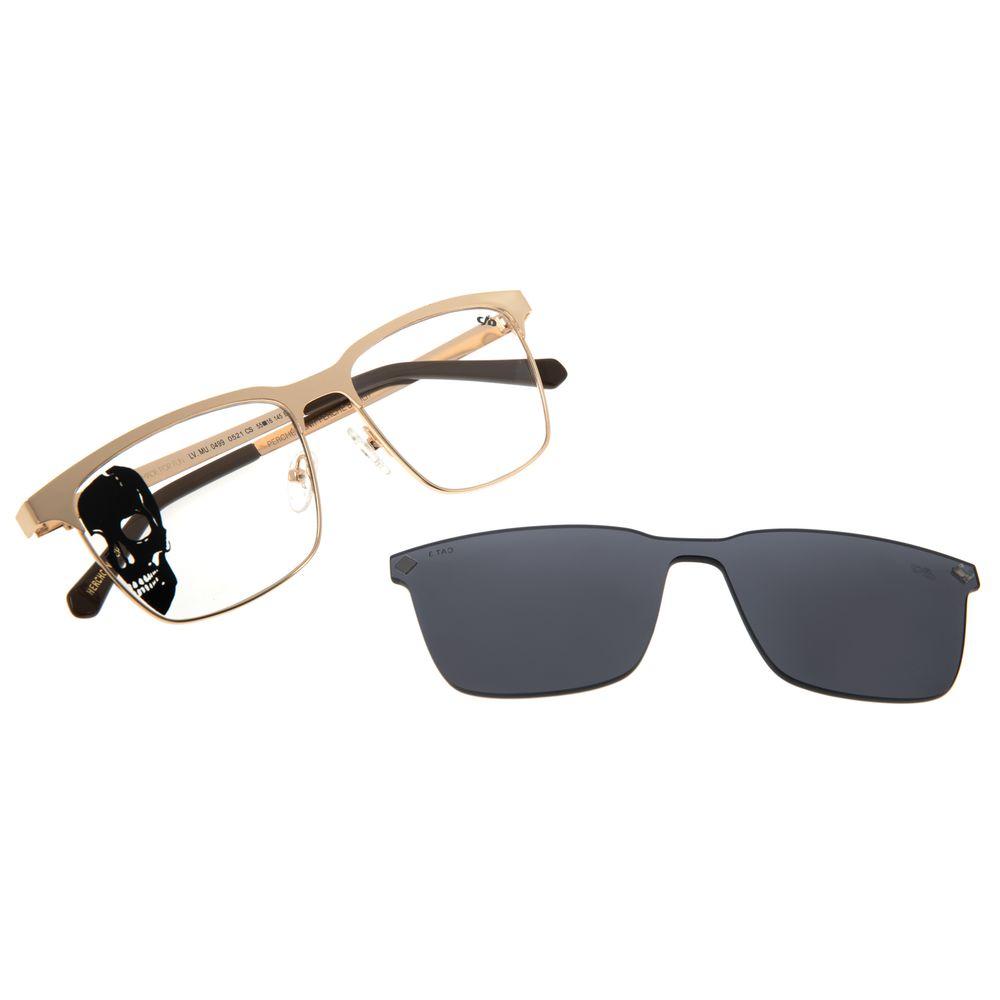 Armação Para Óculos de Grau Masculino Alexandre Herchcovitch Multi Metal Dourado LV.MU.0499-0521