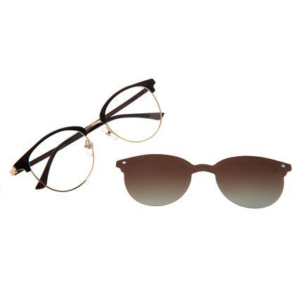 Armação Para Óculos De Grau Feminino Chilli Beans Multi Polarizado Marrom LV.MU.0500-5702