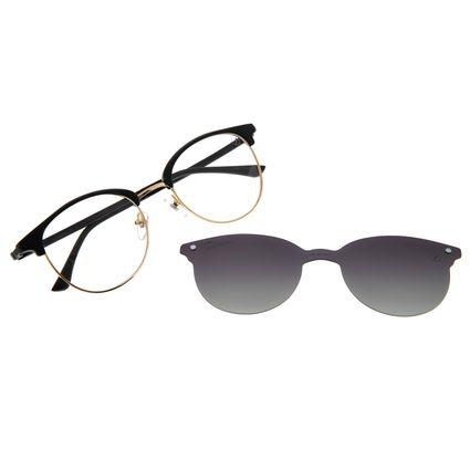 Armação Para Óculos De Grau Feminino Chilli Beans Multi Polarizado Preto LV.MU.0500-2001