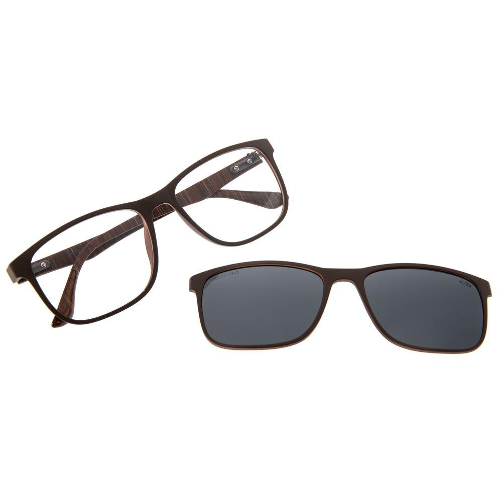Armação Para Óculos de Grau Masculino Chilli Beans Multi Verde Wood LV.MU.0395-0115
