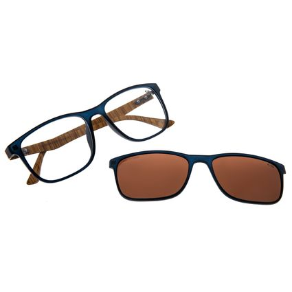 Armação Para Óculos de Grau Masculino Chilli Beans Multi Azul Wood LV.MU.0395-0208