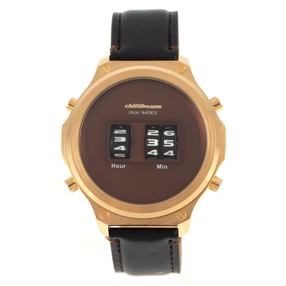 Relógio Digital Masculino Chilli Beans Couro Marrom RE.CR.0447-0202