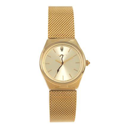 Relógio Analógico Feminino Alexandre Herchcovitch Serpente Redondo Dourado RE.MT.0998-2121