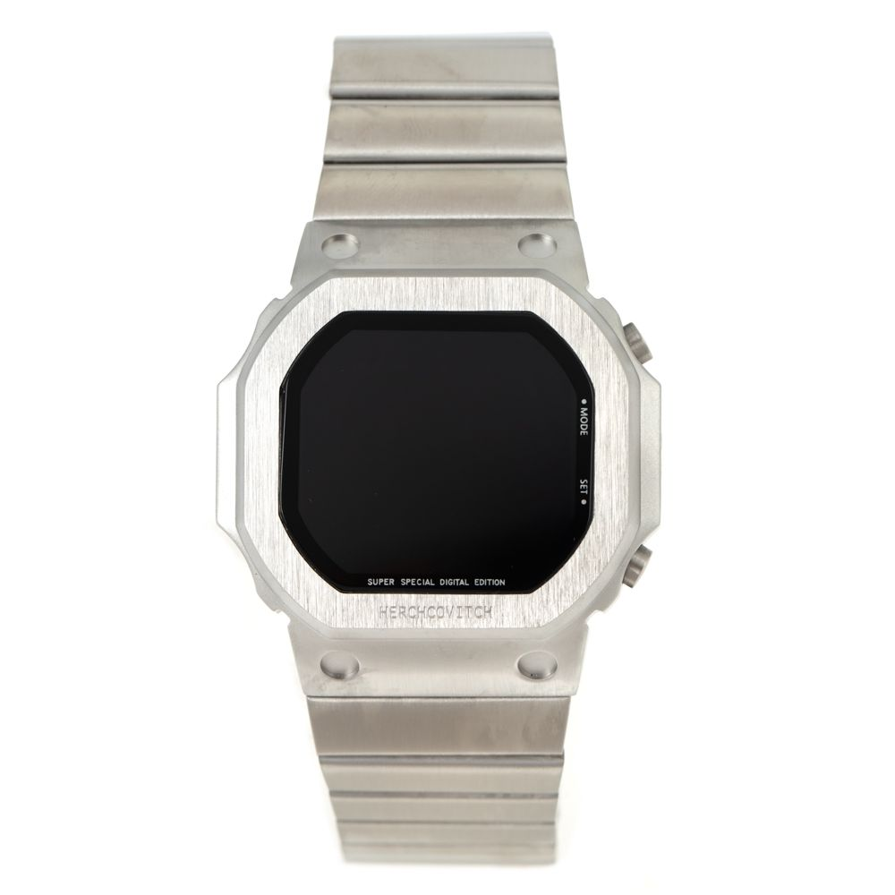 Relógio Digital Masculino Alexandre Herchcovitch Quadrado Prata RE.MT.1000-0707