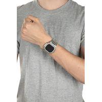 Relógio Digital Masculino Alexandre Herchcovitch Quadrado Prata RE.MT.1000-0707.4