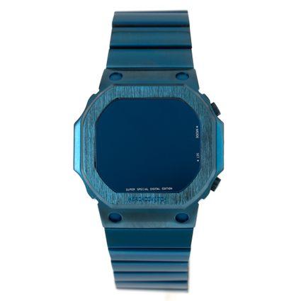 Relógio Digital Masculino Alexandre Herchcovitch Quadrado Azul RE.MT.1000-0808