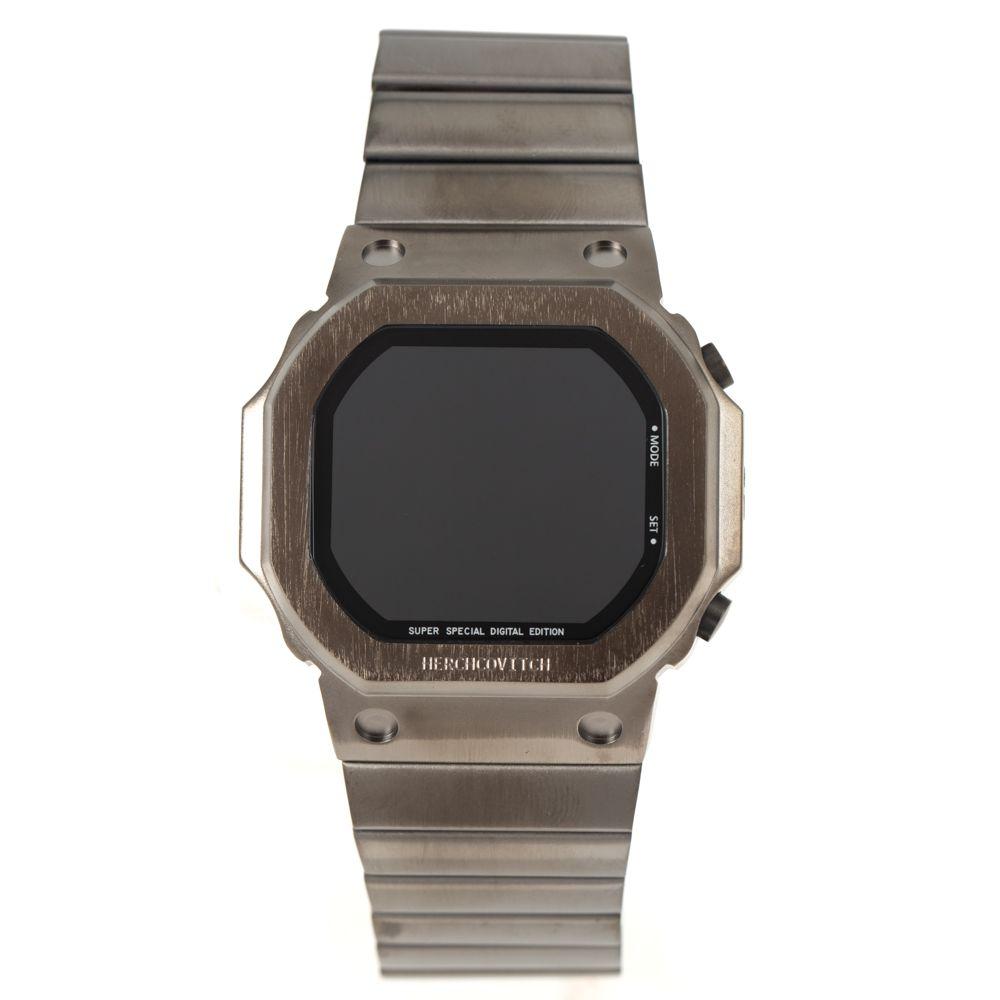 Relógio Digital Masculino Alexandre Herchcovitch Quadrado Ônix RE.MT.1000-2222