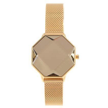 Relógio Digital Feminino Chilli Beans Facetado Dourado RE.MT.1016-2121
