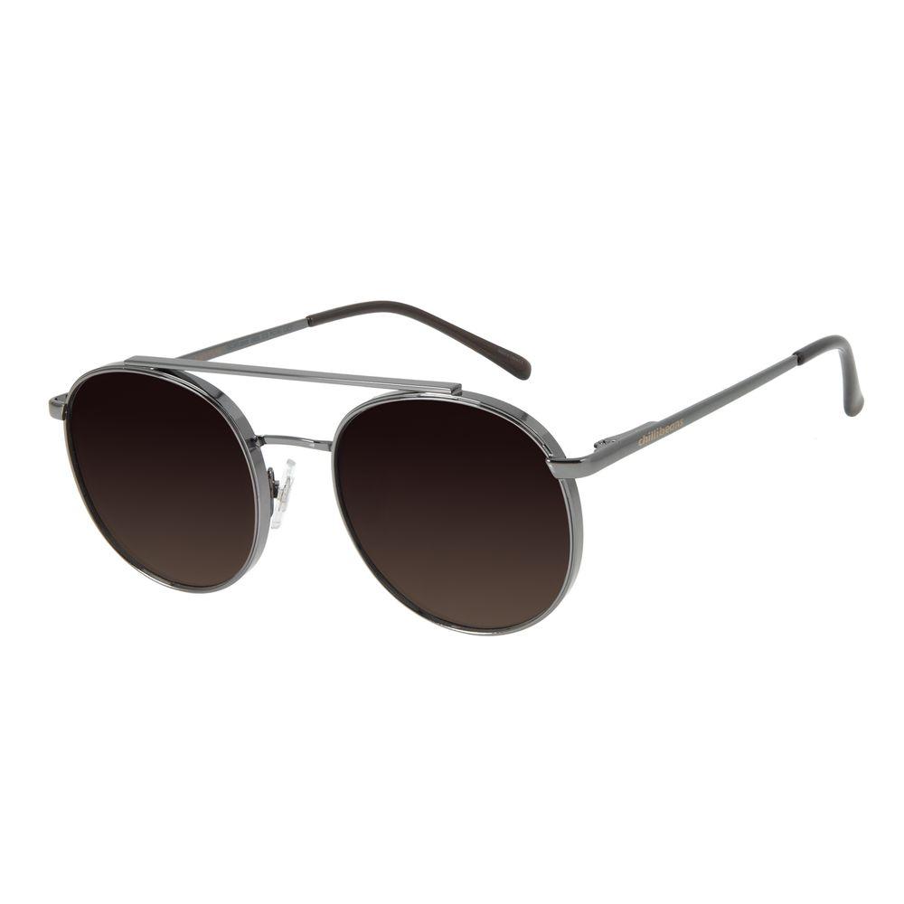 Óculos de Sol Unissex Chilli Beans Redondo Degradê Ônix OC.MT.2848-2022