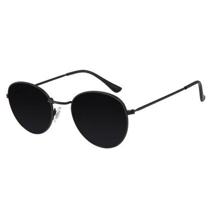 Óculos de Sol Unissex Chilli Beans Redondo Preto OC.MT.2822-0101