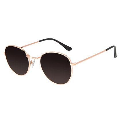 Óculos de Sol Unissex Chilli Beans Redondo Rose OC.MT.2822-2095