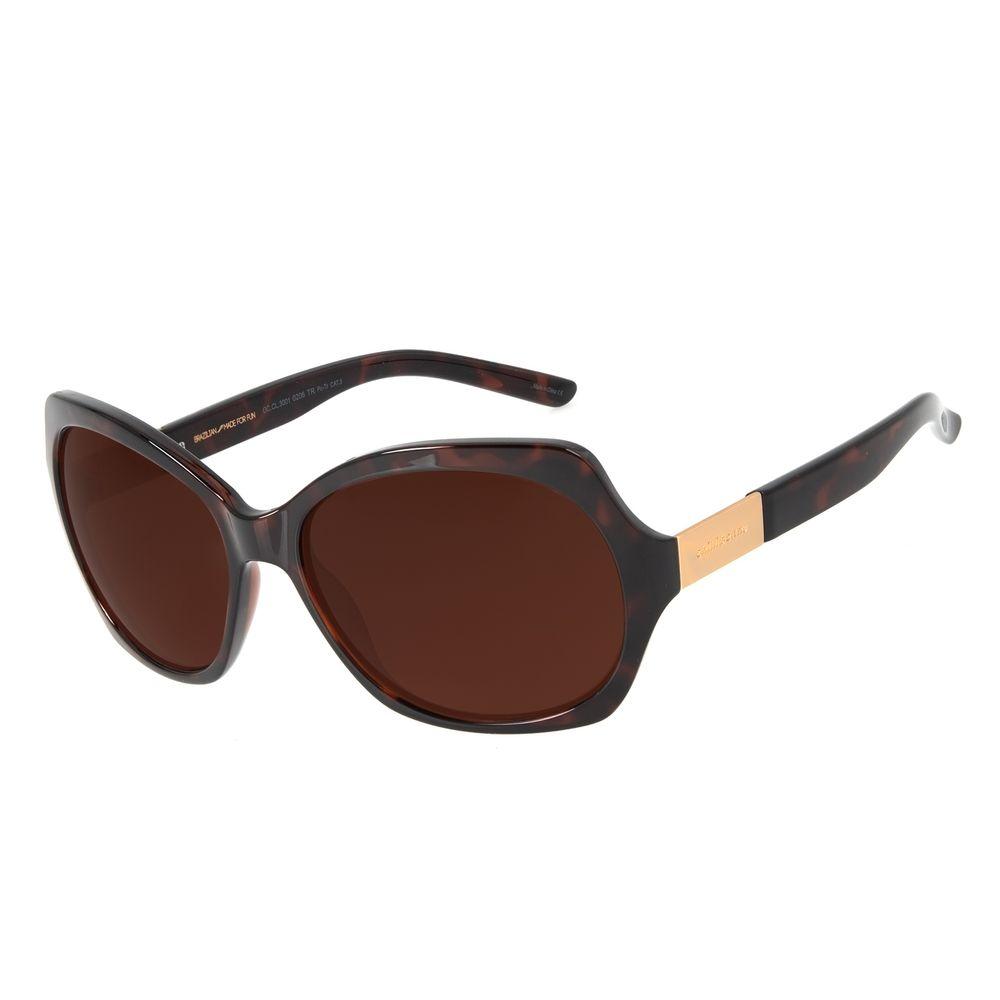 Óculos de Sol Feminino Chilli Beans Essential Quadrado Classic Tartaruga OC.CL.3001-0206