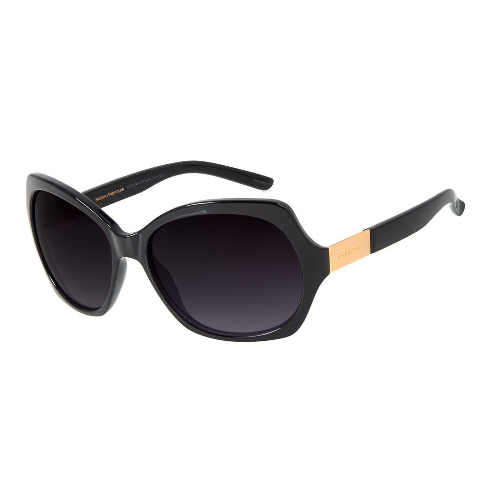 Óculos de Sol Feminino Chilli Beans Essential Quadrado Classic Preto OC.CL.3001-2001