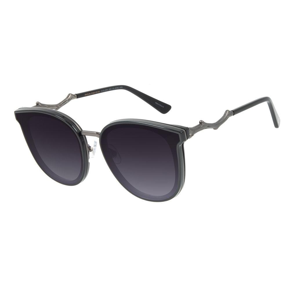 Óculos de Sol Feminino Mãe Natureza Galhos Quadrado Preto OC.CL.3044-2001
