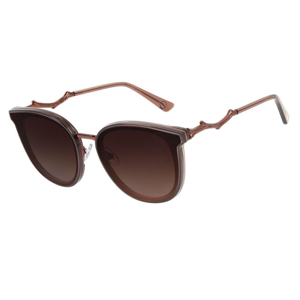 Óculos de Sol Feminino Mãe Natureza Galhos Quadrado Marrom OC.CL.3044-5702