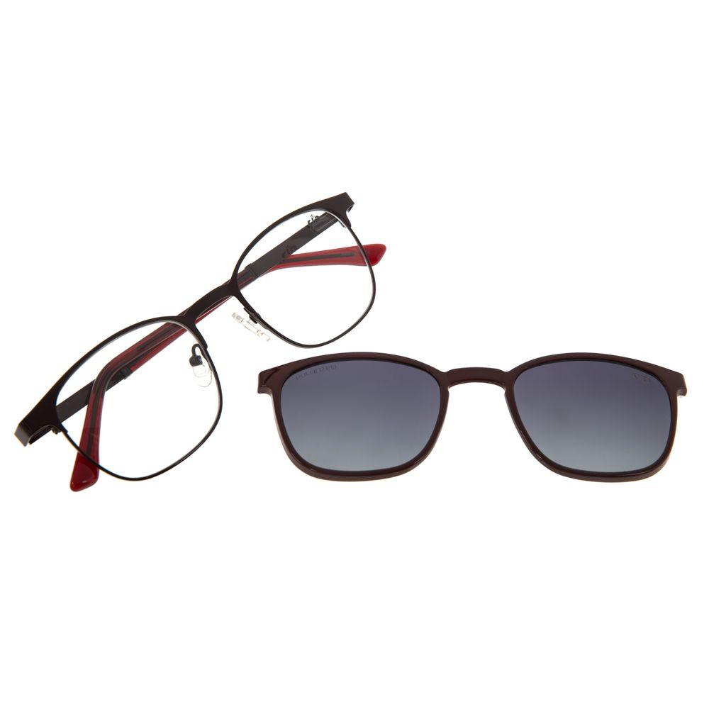 Armação Para Óculos de Grau Feminino Chilli Beans Multi Vinho Polarizado LV.MU.0495-2017
