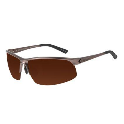 Óculos de Sol Masculino Chilli Beans Flutuante Marrom Escuro Polarizado OC.AL.0169-0247