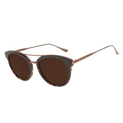 Óculos de Sol Feminino Chilli Beans Redondo Tartaruga OC.CL.2973-0206