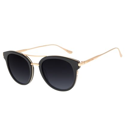 Óculos de Sol Feminino Chilli Beans Redondo Preto OC.CL.2973-2001