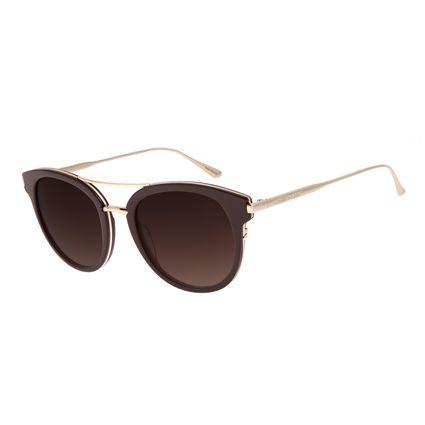 Óculos de Sol Feminino Chilli Beans Redondo Vinho OC.CL.2973-2017