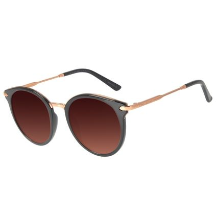 Óculos de Sol Feminino Loucuras da Nobreza Luís XIV Degradê Marrom OC.CL.3141-5701