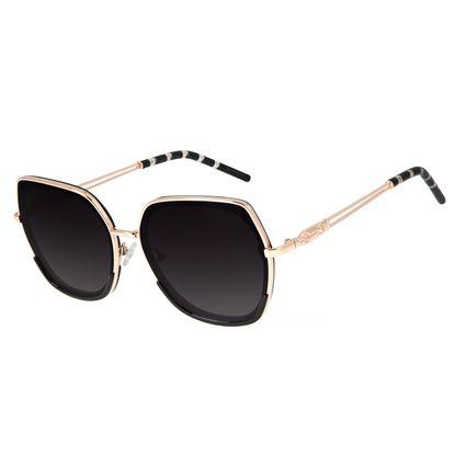 Óculos de Sol Feminino Loucuras da Nobreza Cleópatra Preto OC.CL.3144-2001