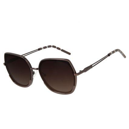 Óculos de Sol Feminino Loucuras da Nobreza Cleópatra Marrom OC.CL.3144-5702