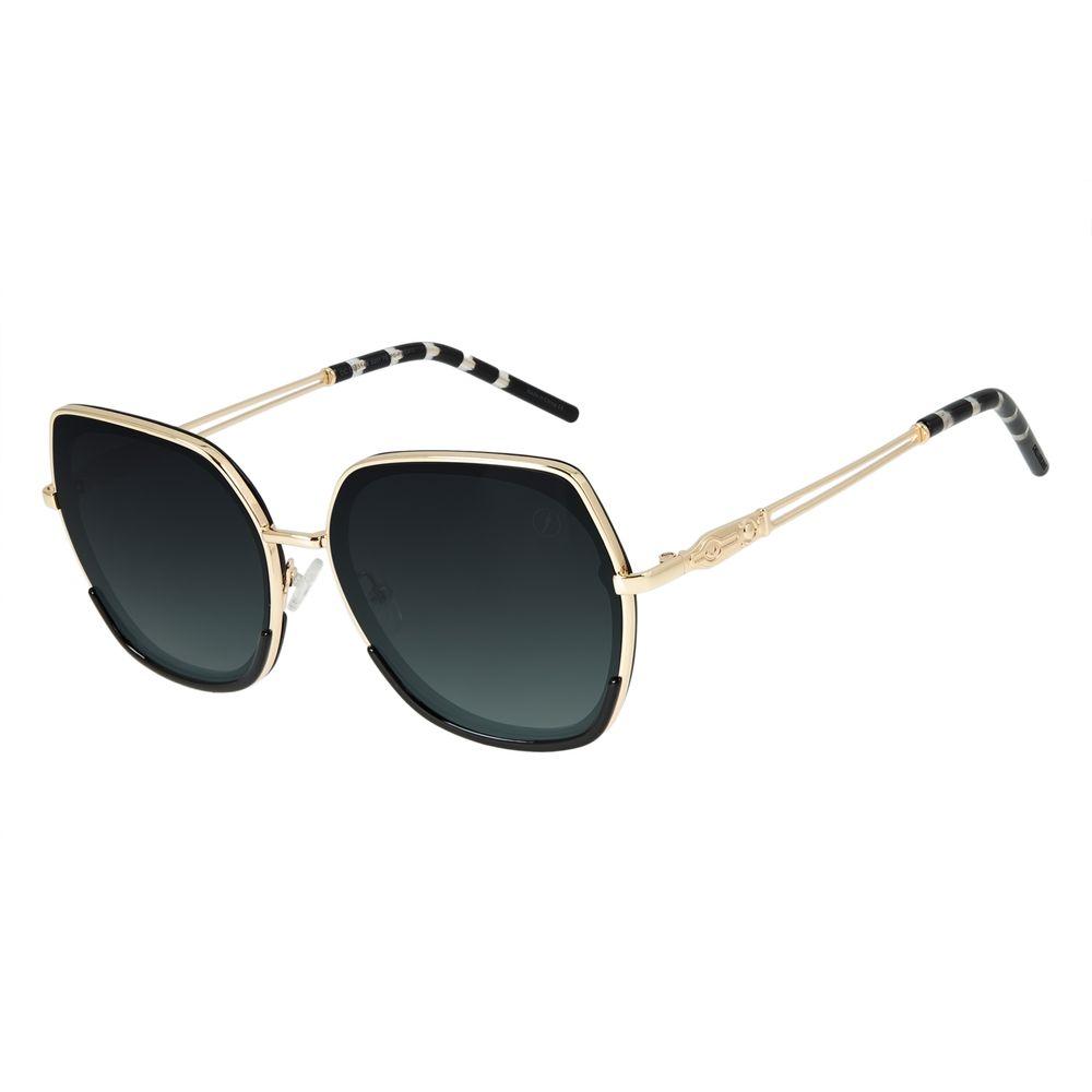 Óculos de Sol Feminino Loucuras da Nobreza Cleópatra Degradê Verde OC.CL.3144-8201