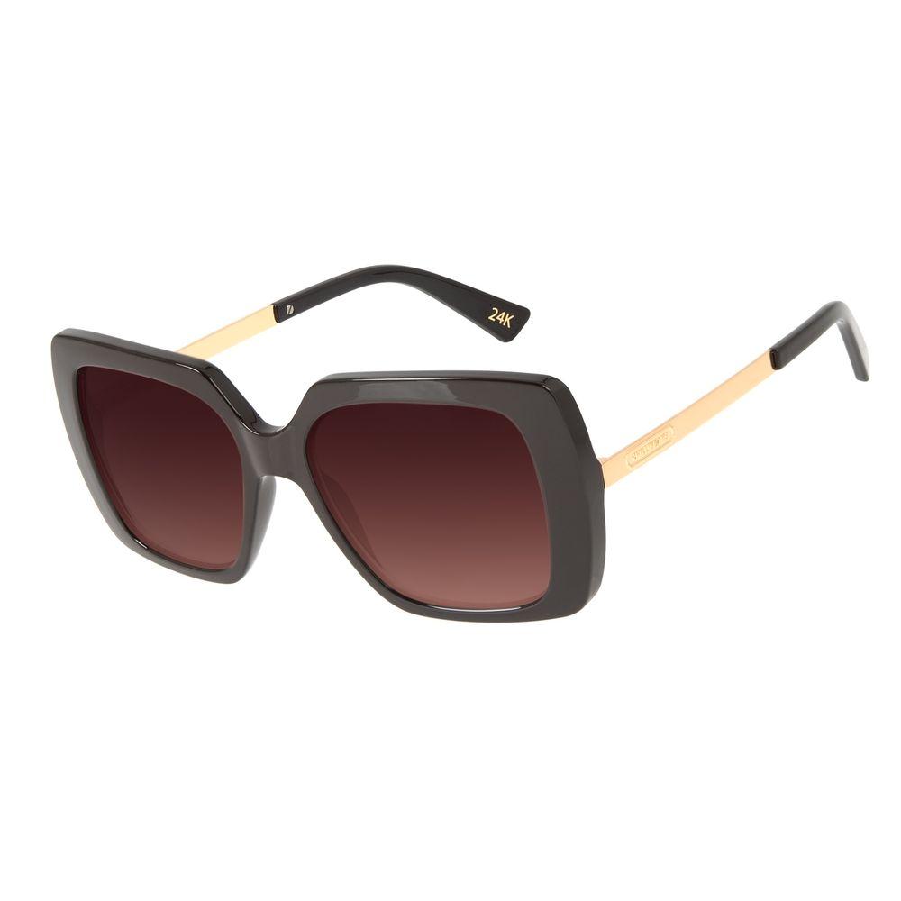 Óculos de Sol Feminino Loucuras da Nobreza Cleópatra Degradê Marrom OC.CL.3145-5702