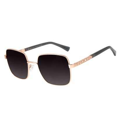 Óculos de Sol Feminino Loucuras da Nobreza Victoria Rosê Banhado A Ouro OC.MT.2965-2095