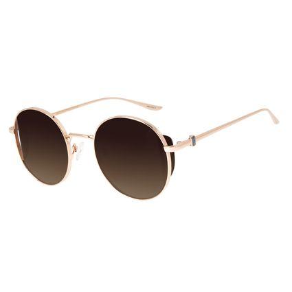 Óculos de Sol Feminino Loucuras da Nobreza Victoria e Albert Flap Rosê OC.MT.2963-5795