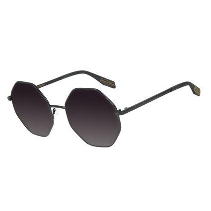 Óculos de Sol Feminino Loucuras da Nobreza Helena de Tróia Hexagonal Preto OC.MT.2962-2001
