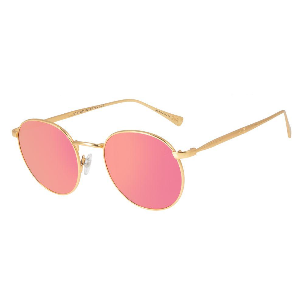 Óculos de Sol Feminino Loucuras da Nobreza Conde Drácula Dourado Banhado A Ouro OC.MT.2961-1621