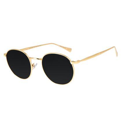 Óculos de Sol Feminino Loucuras da Nobreza Conde Drácula Preto Banhado A Ouro OC.MT.2961-0107