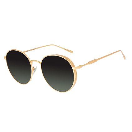 Óculos de Sol Feminino Loucuras da Nobreza Cleópatra Degradê Verde Banhado A Ouro OC.MT.2959-8221