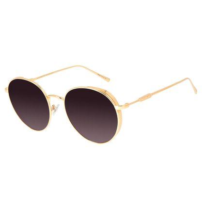 Óculos de Sol Feminino Loucuras da Nobreza Cleópatra Preto Banhado A Ouro OC.MT.2959-0107